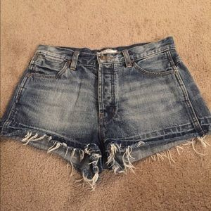 Free people, denim shorts